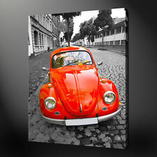 VW BEETLE HIGHEST QUALITY CANVAS PRINT PICTURE WALL ART READY TO HANG