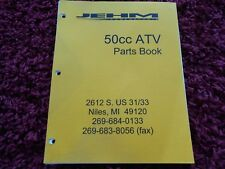 Go-Kart Parts Manual 50cc Atv Jehm Powersports 4-wheeler Quad Bl50 Odyssey Book