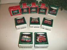 HALLMARK MINIATURE TRAIN/LOCOMOTIVE COLLECTORS SERIES 10PC NOEL R.R. SET '89-98
