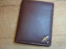 New WWII RAF Spitfire logo dark leather wallet 4 flying flight jacket repro