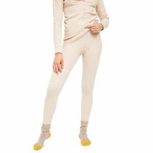 FREE PEOPLE NEW Women's Think Thermal Waffle-knit Leggings TEDO