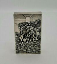 More details for very fine old danish silver colour cigarette box - hans jensen - denmark
