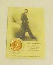 1 only  RARE COIN CARD  - SEAN CONNERY COMES WITH  CLASSY PROTECTOR