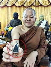 6659-Sacred Leklai Thai Amulet Thuad Pray Lp Somporn Gold Red Silvery Immortal