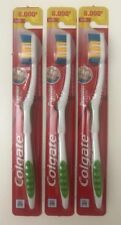 3 Colgate Premier Toothbrush-Extra Clean Firm Hard Full Head Freshness-Green
