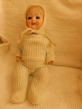 ANTIQUE HEUBACH 300 11/0 bisque head CHARACTER BABY open mouth great old clothes