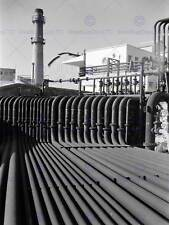OLD PHOTO INDUSTRIAL SACOR OIL REFINERY LISBON PORTUGAL POSTER PRINT BB12311B