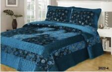 Luxury Poly-Cotton Coverlet / Bedspread Set Queen &  King Size Bed 230x250cm::