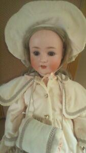 "Lovely Large 27"" Schoenau & Hoffmeister 914 Bisque Head Antique Doll circa 1925"