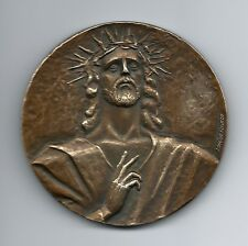 Religious/ Jesus Christ/ Crown of Thorns / Love, Joy & Peace/ BRONZE MEDAL / M50