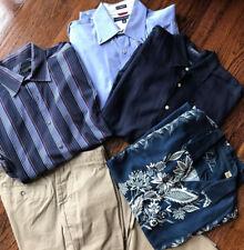 Mens Designer Clothing Lot Tommy Bahama Hilfiger Nautica Pants shirts Large L