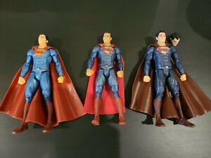 DC Universe Multiverse SUPERMAN LOT of 3 Justice League Movie Loose Mattel red