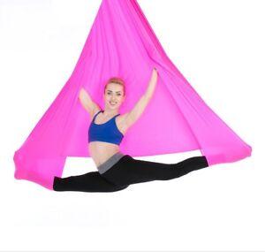 Yoga Swing Aerial Hammock Trapeze Inversion Anti-gravity Kit Large Strong 5x2.8m