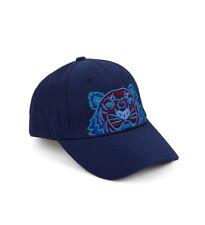 Kenzo Unisexe Tiger Baseball Cap, Blue & bordeaux toile Chapeau Taille Unique