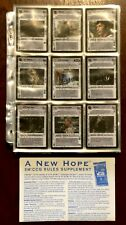 1996 Decipher Star Wars CCG A New Hope Limited Expansion Complete Set NM