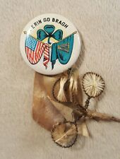 Vintage Erin Go Bragh pinback button Made in Japan Irish American