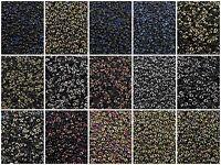 UNIONS 15/0 Miyuki & Czech Seed Beads Round Rocailles 8.2 Gr BLACK/401