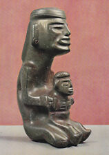 Mother and child Stone carving Volkerkunde Museum Berlin Postcard Unused VGC