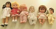Lot Of 6 Vintage Dressed Baby Dolls, Most Made Hong Kong