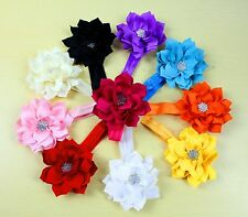 10pcs Flower Baby Toddler Girl Infant Headband Hair Bow Band Accessories
