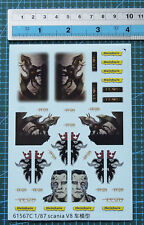 1/14 1/24 1/87 decal Tractor Truck Scania for model kits 61567c