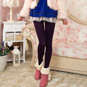 Women Ladies Opaque Plain Warm Thick Velvet Tights Pantyhose Stockings One Size