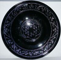 "Hazel Atlas Depression Glass Black Cloverleaf 8"" Luncheon Plate 8 Available !"
