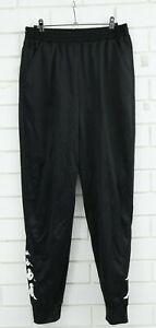 Men's Kappa Black Tracksuit Pants Size M