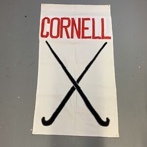 Vintage 60s 70s Cornell Banner Flag University College NCAA Sports Decor Golf
