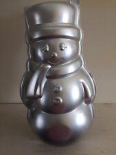 Snow Man Cake Tin. Aluminium.10 1/2 Inches Tall