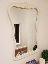 French Provincial White Wall Mirror