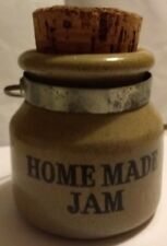 Vintage Moira English Stoneware Jam Jar / Homemade Jam Jar with Metal Handle