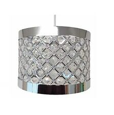 Moda Sturdy Sparkly Ceiling Pendant Light Lamp Shade Fitting Lampshade 24 X 17cm Silver