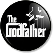 The Godfather 25mm Pin Button Badge Gangster Novel Movie Christening Humour Fun