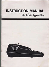 1970s vintage old retro Instruction Manual Electronic Typewriter