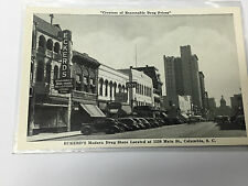 Vintage Photo Postcard Street Scene Cars Eckerds Drug Store Main St. Columbia SC