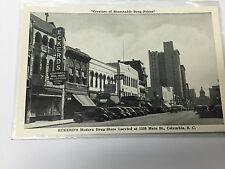 Vintage Photo Postcard Street Scene Cars Eckerds Drug Store Main St. Columbia SC