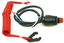 Universal Outboard Engine Motor Urgent Kill Stop Switch & Safety Tether Lanyard