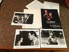 OOP The Client Movie Press kit photo mini poster film tommy lee jones. vintage!!