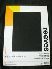 Black Paper Pad - A3 - 20 Sheets REEVES Craft, Art, Etc