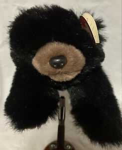 """12"""" Baby Paws Ty Black & Brown Bear 1996"""