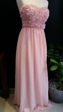 Nelly Brand Floral Swing Long Dress Size EU  36  LIGHT PINK / Peach  A122