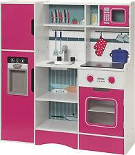 CUISINE POUR ENFANTS Chef cuisinier jouets Bois en Micro-ondes Four