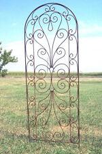 Wrought Iron Heart Trellis - Pretty Metal Support for Vines & Garden Flowers