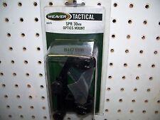 Weaver 48375 Thumb-Nut SPR 30mm Tactical Optics Mount Matte  Black