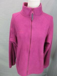 Columbia Size M Womens Purple Athletic Full Zip w/Pockets Fleece Jacket 562