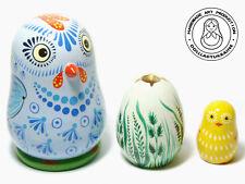 Nesting Doll Chicken With Egg, Matryoshka Doll 3pcs 9 cm/3,5'', Easter Kids Gift