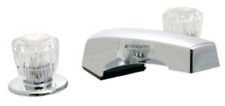 Mobile Home Garden Tub Chrome Faucet with Clear Handles