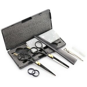 Professional Hair Style Thinning Scissors Set With Comb & Clippers with Box