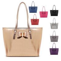 Ladies LYDC Bow Shoulder Bag Shopper Bag Bucket Handbag Girls School Bag GL3339C